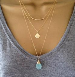Gold layering Necklaces, simple and clean: Gold Layered Necklace, Simple Gold Necklace, Gold Chain Necklace, Simple Necklace, Layer Necklace, Fashion Necklace