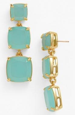 kate spade new york 'shaken & stirred' graduated linear drop earrings Blue/ Gold
