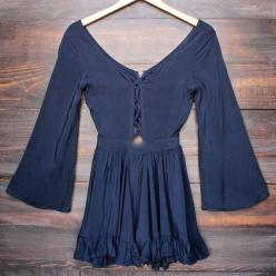 Lioness by the sea gypsy romper in navy