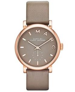 Marc by Marc Jacobs Watch, Women's Baker Gray Textured Leather Strap 37mm MBM1266 - First @ Macy's! - Marc by Marc Jacobs - Jewelry & Watche...: Rose, Jacobs Baker, Style, Marc Jacobs Watch, Marcjacobs, Accessories, Watches