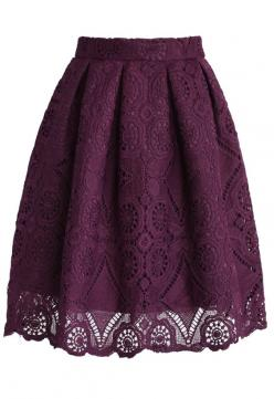 Purple Dream Full Lace Skirt - Skirt - Bottoms - Retro, Indie and Unique Fashion