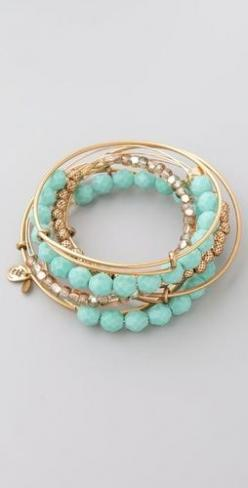 Turquoise Expandable Wire Bangle Set,cheap fashion bracelet,vintage bangle jewelry for women and girl shop at Costwe.com