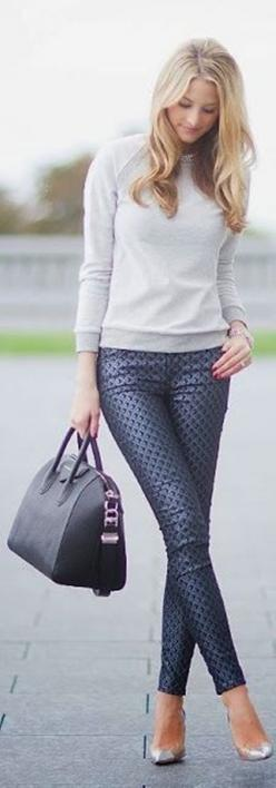 40 Cute Pant Outfits For Girls to Try | http://fashion.ekstrax.com/2014/07/cute-pant-outfits-for-girls-to-try.html: Casual Outfit, Dressy Outfit, Fashion Style, Dressy Black Pants Outfit, Street Style, Grey Pants Outfit For Work, Cute Pants, Work Outfits