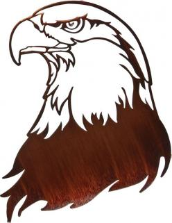 Bald Eagle Laser Cut Metal Wall Art