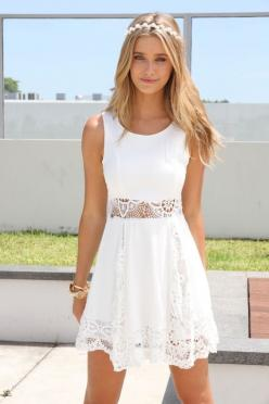 Brighten Up in White Dresses