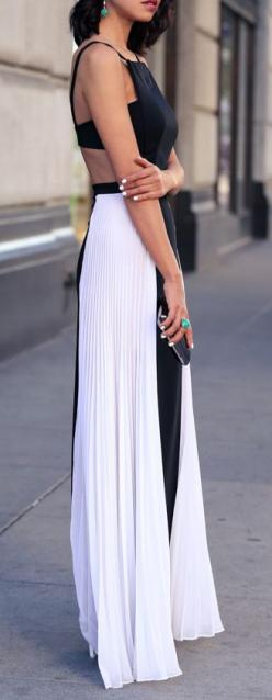 Elegant white and black, so incredibly cute with a little bit of sexiness but class also
