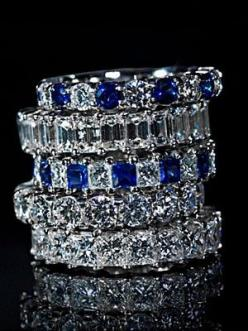 http://rubies.work/0309-sapphire-ring/ Yowzah! All are gorgeous! Emerald cut band may be favorite.
