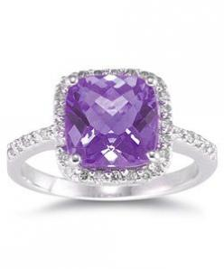 @Overstock - Click here for Ring Sizing ChartGorgeous cushion-cut amethyst and diamond ringCrafted of 14k white goldhttp://www.overstock.com/Jewelry-Watches/14k-White-Gold-Cushion-cut-Amethyst-Diamond-Ring/2902083/product.html?CID=214117 $365.99