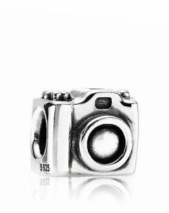 PANDORA Charm - Sterling Silver Camera  Bloomingdale's