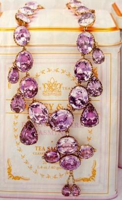 purple necklace, I was given something similar to this last Christmas in pink, love it!
