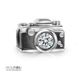 Soufeel Vintage Camera Charm 925 Sterling Silver  Compatible All Brands Basic Bracelet. For Every Memorable Day