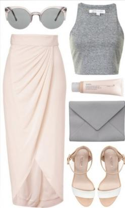 15 Baby Pink Polyvore Combinations find more women fashion ideas on www.misspool.com: Summer Fashion, Summer Outfit, Outfit Idea, Spring Summer, Croptop, Spring Outfit, Crop Top