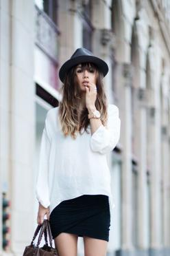black and white: Fashion Style, Black And White, Fashion Toast, Style Inspiration, Street Style, Black White