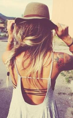 boho hairstyles: Boho Hairstyles, Summer Style, Open Back Top, Spring Summer, Strappy Good, Summer Hairstyles, Free Spirit Tattoo