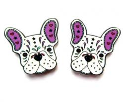 French Bulldog Earrings: French Bulldogs, Frenchies Forever
