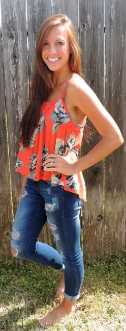 Hawaii Open Back Tank #ShopMCE: Flowy Summer, Print Summery, Fashion Outfits, Cute Outfits, Casual Summer Outfits, Cute Spring Outfits, Cute Summer Outfits, Perfect Summer, Summer Top