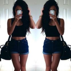 High waisted shorts... Loooove!: Summer Fashion, Matching Outfits, Spring Summer, Summer Outfits, Perfect Fashion, School Outfits, Shorts Loooove