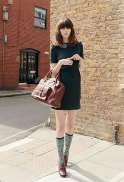 How to wear compression socks in the summer. @BrightLife Go: Dress Socks, High Socks, 60'S Dress, Knee Socks, Green Dress