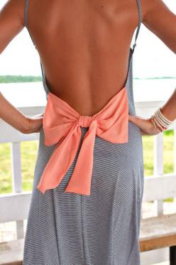 not sure how this would fit in the front but its really cute in back!: Bow Back, Maxi Dresses, Summer Dress, Dream Closet, Spring Summer, Open Backs