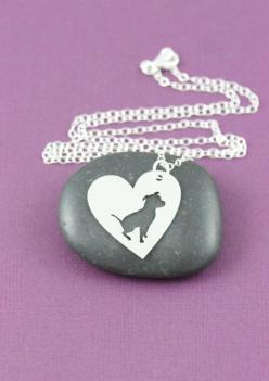 Pit Bull In a Heart Silver Plate Necklace - Proceeds go to Pit Bull rescue – ruby & sofia: Beautiful Pitbulls, Memorial Gifts, Pet Dogs, Pit Bull Dogs, Pitbull Necklace, Personalized Pets, Pitbull Mama