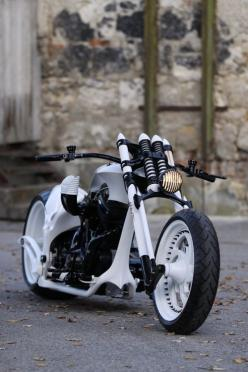 cool black & white motorcycle