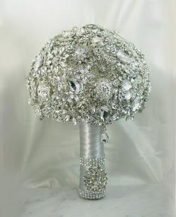 Diamond Wedding Brooch Bouquet. DEPOSIT on a Made to Order Heirloom Broach Bouquet. It shines like a Diamond