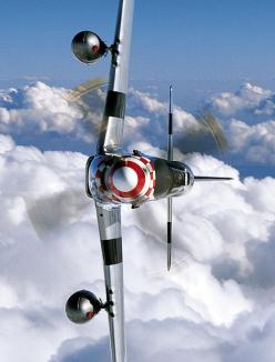fly your plane sideways, slicing the clouds
