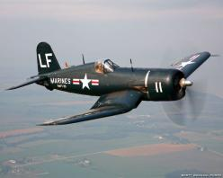 "I love vintage aircraft from WWII. My favorite plane is the F4U Corsair. This type of plane was flown by Major Gregory ""Pappy"" Boyington of the Black Sheep Squadron.    http://en.wikipedia.org/wiki/VMA-214"