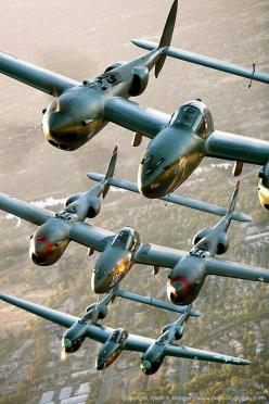P-38 x 3 = Big Trouble for the Bad guys! ;)