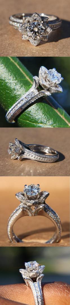 This ring is gorgeous...I love unique engagement rings!