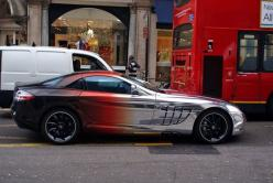 Wow that's some cool paint!  Blackredchrome Mercedes McLaren SLR
