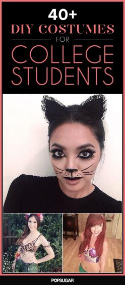 40+ DIY Costumes Every College Student Can Pull Off: College Student, Halloween Costumes, Diy Cat Costume, Easy Diy Halloween Costume, Cat Halloween Costume, College Halloween Costume, Halloween Cat Costume, Costume Idea