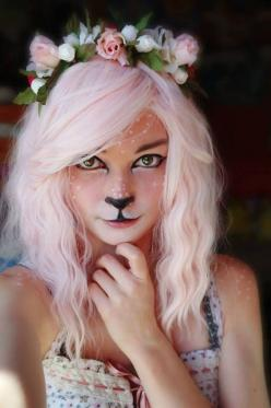 65 Animal-Inspired Halloween Costumes via Brit + Co.: Holiday, Halloween Idea, Halloween Costumes, Faun Cosplay, Costume Ideas, Cosplay Costume, Halloween Makeup, Costume Makeup, Halloweenmakeup