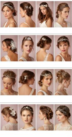 Bridal hairstyles and headpieces inspiration.  A Wanaka Wedding (www.awanakawedding.co.nz).: Headpieces Inspiration, Bridal Headpieces, Bridal Hairstyles, Hairstyles Wedding, Hair Styles Wedding, Bhldn Headpiece, Gorgeous Headpieces
