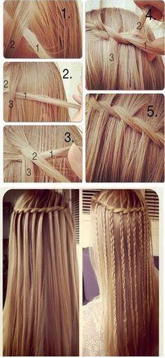 Diy Hair Style Pictures, Photos, and Images for Facebook, Tumblr, Pinterest, and Twitter: Hairstyles, Idea, Waterfalls, Hair Styles, Makeup, Beauty, Waterfall Braids