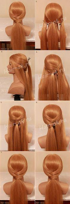 Easy, simple ponytail