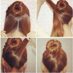Easy To Do: Quick And Elegant Hair Bun: Hair Ideas, Hairstyles, Hair Styles, Hair Bun, Makeup, Sock Bun, Beauty