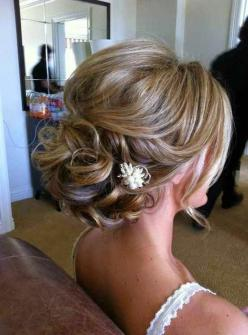 Great Wedding Hairstyle for Medium Hair 2015: Updo Hairstyle, Hairstyles Updo, Medium Bridal Hairstyle, Formal Hairstyle, Wedding Updo, Bridesmaid Updo, Bridesmaids Updo