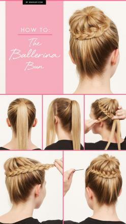 "How To: The Braided Ballerina Bun.... This is totally going to be one of those ""nailed it"" items!: Ballerina Bun, Hairstyles, Hair Styles, Hair Tutorial, Braided Bun"