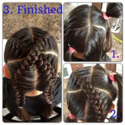 "Little girl braids ""x marks the spot"": Braids Hairstyles, Kids Hair, Kid Hairstyles, Girl Braids, Hair Styles, Girl Hairstyles, Girls Hairstyles"