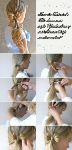 side bow ponytail hairstyles hair tutorial #womnly.com #womnly #Top_hairstyles #hairstyles_Ideas #top_hairstyles #best_hairstyles: Best Hairstyles, Hair Design, Hair Tutorial, Girl Hairstyles