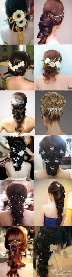 So many ideas for a wedding hairstyle: Bridal Hairstyles, Weddinghairstyles Weddinghair, Long Hair Wedding Hairstyles, Wedding Hairstyles Ideas, Hair Style, Wedding Hairstyles Long Hair, Wedding Hairstyles For Teens, Amazing Hairstyles, Hairstyle Weddingh
