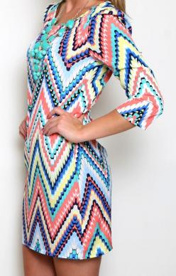 All The Colors Chevron Dress: Colors Chevron, Chevron Color, Clothes Website, Color Chevron, Color Aqua, Chevron Dress