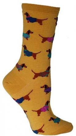 Crew length sock with dachshunds wearing sweaters. Available in Mimosa Yellow or Blue Lagoon. Fits women's shoe size 5-10: Doxies Love Em, Doxies ️, Dachshund Socks, Woman Shoes, Doxie S, Womens Shoes, Dachshunds Wearing