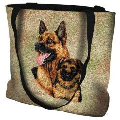 German Shepherd Dog and Puppy Portrait Tote Bag: Portrait Tote, German Shepherd Dogs, Portrait Art, Dogs And Puppies, Dogs Puppies, German Shepherds, Tote Bags, Doggie Things