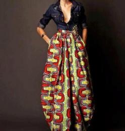 Long Maxi Skirt   in African Fabric Pleated with by MelangeMode, $85.00: African Fashion, Long Maxi Skirt, Maxiskirt, African Style, Africanprint, Maxi Skirts