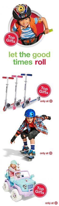 Looking for a fresh spin on Christmas gifts for young thrill-seekers? Give the ultimate gift of wheels — bikes, blades, scooters and more. Each comes in a variety of styles, colors and sizes, plus some even feature their favorite characters. The only ques