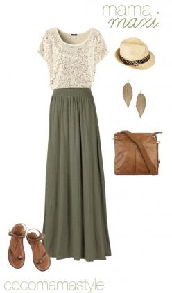 Love everything.  Colors. Lace. Bag. Hat.. Delicious summer/fall outfit :): Maxi Outfit, Lace Top, Maxiskirt, Modest Summer Outfit, Maxi Skirt Outfit, Summer Top