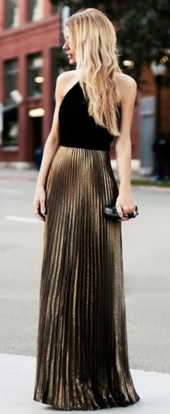 Pleated maxi gold Skirt (Best of the Best, this is Karen Cox): Pleated Maxi Skirt, Skirt Style, Maxiskirt, Pleated Skirts, Gold Pleated, Maxi Skirts