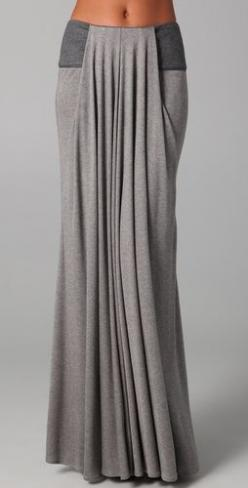 Top Fashion Ideas for The #Long #Skirt, see here http://pinmakeuptips.com/top-fashion-ideas-for-the-long-long-skirt/: Long Maxi Skirt, Draped Skirt, Jersey Skirt, Casual Long Skirt, Leather Trim, Long Skirt Outfit, Grey Maxi Skirt, Maxi Skirts